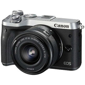 キヤノン CANON EOS M6 ミラーレス一眼カメラ EF-M15-45 IS STM レンズキット シルバー [ズームレンズ][EOSM6SL1545ISSTMLK]