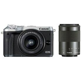 キヤノン CANON EOS M6 ミラーレス一眼カメラ シルバー [ズームレンズ+ズームレンズ][EOSM6SLWZK]