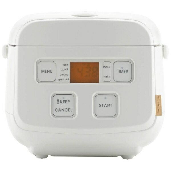 TAGlabel by amadana タグレーベル バイ アマダナ マイコン炊飯ジャー rice cooker AT-RM11(W) ホワイト [3合 /マイコン][ATRM11W]【point_rb】