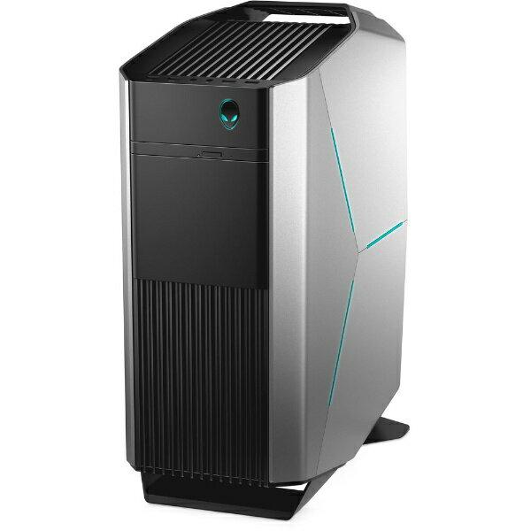 【送料無料】 DELL モニター無 ゲーミングデスクトップPC [Win10 Home・i7-7700K・SSD 256GB + HDD 2TB・メモリ 16GB・GeForce GTX 1070] ALIENWARE Aurora(シルバー) DA90VR-7HLPP (2017年春モデル)[DA90VR7HLPP]