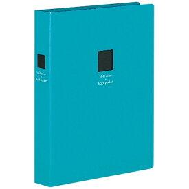コクヨ KOKUYO ポシェットアルバム(黒台紙・2段厚型)青色