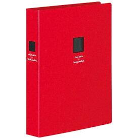 コクヨ KOKUYO ポシェットアルバム(黒台紙・2段厚型)赤色