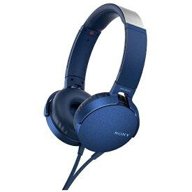 ソニー SONY ヘッドホン MDR-XB550AP ブルー [リモコン・マイク対応 /φ3.5mm ミニプラグ][MDRXB550APLC]