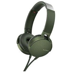 ソニー SONY ヘッドホン MDR-XB550AP グリーン [リモコン・マイク対応 /φ3.5mm ミニプラグ][MDRXB550APGC]