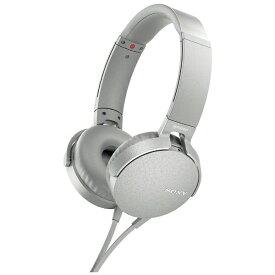ソニー SONY ヘッドホン MDR-XB550AP グレイッシュホワイト [リモコン・マイク対応 /φ3.5mm ミニプラグ][MDRXB550APWC]
