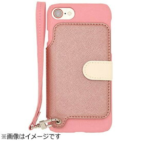 CHEERO チーロ iPhone 7用 手帳型レザーケース RAKUNI LIGHT PU Leather Case Book Type with Strap ピンク RCB-7 PK
