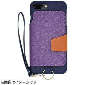 CHEERO チーロ iPhone 7 Plus用 レザーケースRAKUNI LIGHT PU Leather Case Book Type with Strap ブルー RCB-7P BL