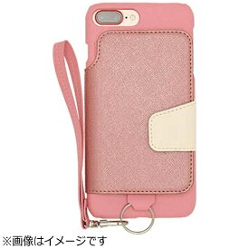 CHEERO チーロ iPhone 7 Plus用 レザーケースRAKUNI LIGHT PU Leather Case Book Type with Strap ピンク RCB-7P -PK