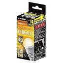 ドウシシャ LED人感センサー電球 40W 電球色相当 E17 LVA40LHMS