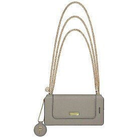 坂本ラヂヲ iPhone 7 Plus用 手帳型レザーケース GRAMAS FEMME Sac Bag Type Leather Case グレー FLC296PGY