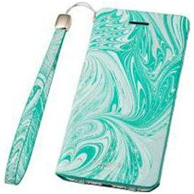 坂本ラヂヲ iPhone 7用 手帳型レザーケース GRAMAS FEMME Mab Flap Leather Case ブルー FLC2106BL