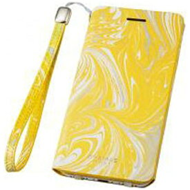 坂本ラヂヲ iPhone 7用 手帳型レザーケース GRAMAS FEMME Mab Flap Leather Case イエロー FLC2106YL