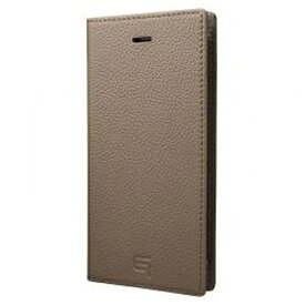 坂本ラヂヲ iPhone 7用 手帳型レザーケース GRAMAS Shrunken-calf Full Leather Case トープ GLC646TP