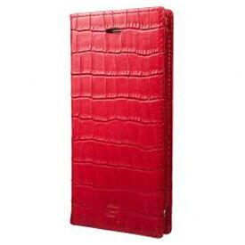 坂本ラヂヲ iPhone 7用 手帳型レザーケース GRAMAS Croco Patterned Full Leather Case レッド GLC6136RD