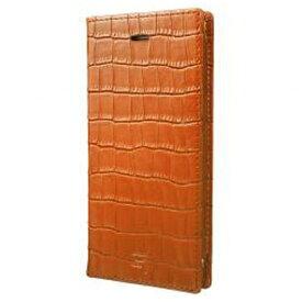 坂本ラヂヲ iPhone 7用 手帳型レザーケース GRAMAS Croco Patterned Full Leather Case タン GLC6136TA