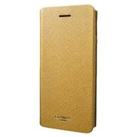 坂本ラヂヲ iPhone 7 Plus用 手帳型レザーケース GRAMAS COLORS Quadrifoglio Leather Case ゴールド CLC276PGL