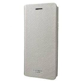 坂本ラヂヲ iPhone 7 Plus用 手帳型レザーケース GRAMAS COLORS Quadrifoglio Leather Case シルバー CLC276PSL