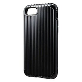 坂本ラヂヲ iPhone 7用 GRAMAS COLORS Rib Hybrid case ブラック CHC436BK