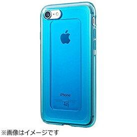 坂本ラヂヲ iPhone 7用 GRAMAS COLORS GEMS Hybrid Case ターコイズ ブルー CHC466BL