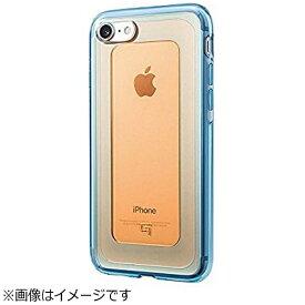 坂本ラヂヲ iPhone 7用 GRAMAS COLORS GEMS Hybrid Case ガーネット オレンジ × ブルー CHC466OG