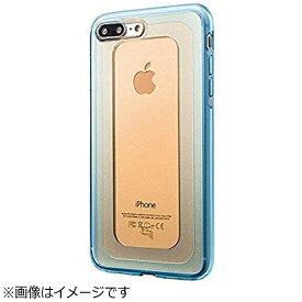 坂本ラヂヲ iPhone 7 Plus用 GRAMAS COLORS GEMS Hybrid Case ガーネット オレンジ×ブルー CHC476POG