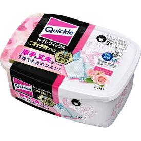 花王 Kao トイレクイックル ニオイ予防プラス ローズ 容器 8枚