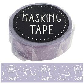 ワールドクラフト world craft マスキングテープ フクロウ W01-GMT-0004[W01GMT0004]