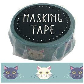 ワールドクラフト world craft マスキングテープ ネコ W01-GMT-0008[W01GMT0008]