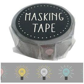 ワールドクラフト world craft マスキングテープ デンキュウ W01-GMT-0014[W01GMT0014]