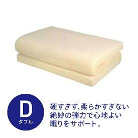 生毛工房 通気性低反発マットレス ダブルサイズ(140×200×8cm/ベージュ)【日本製】【point_rb】