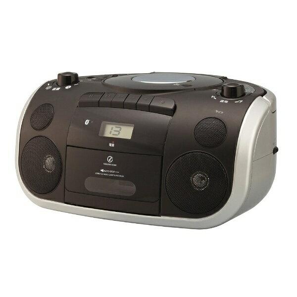 【送料無料】 コイズミ KOIZUMI 【ワイドFM対応】Bluetooth対応 CDラジカセ(ラジオ+CD+カセットテープ)(ブラック) SDB-4810/K【ビックカメラグループオリジナル】201709P