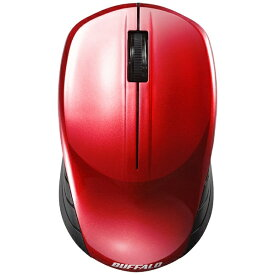 BUFFALO バッファロー BSMBW108RD マウス BSMBW108シリーズ レッド [BlueLED /3ボタン /USB /無線(ワイヤレス)][BSMBW108RD]
