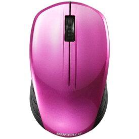 BUFFALO バッファロー BSMBW108PK マウス BSMBW108シリーズ ピンク [BlueLED /3ボタン /USB /無線(ワイヤレス)][BSMBW108PK]