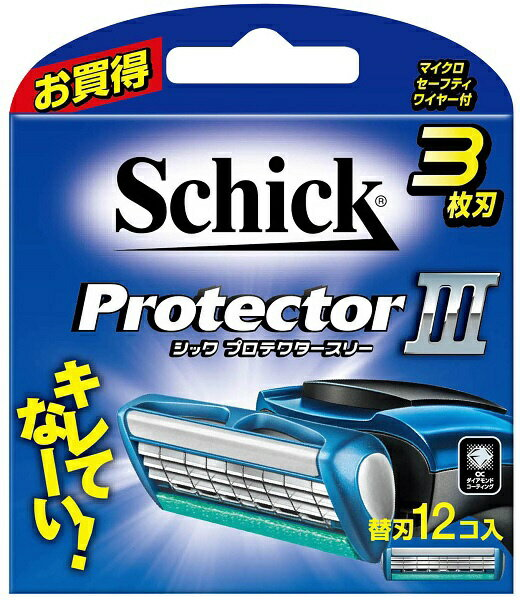シック Schick Schick(シック) プロテクタースリー 替刃12個入 〔ひげそり〕