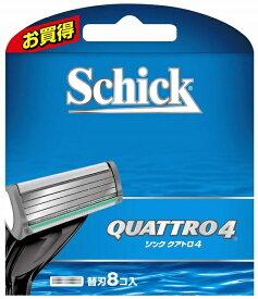 シック Schick Schick(シック) クアトロ4 替刃8個入 〔ひげそり〕
