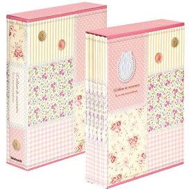 ナカバヤシ Nakabayashi 5冊組ソフトボックスアルバム パッチワーク柄 (ピンク)5PL-270-31-P[5PL27031P]
