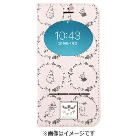 HAMEE ハミィ iPhone 7用 手帳型 ムーミン フリップ窓付きダイアリーケース ムーミンフレンズ/ピンク