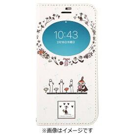 HAMEE ハミィ iPhone 7用 手帳型 ムーミン フリップ窓付きダイアリーケース リトルミイ/オフホワイト