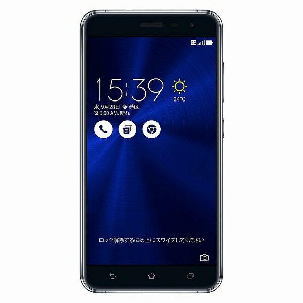【送料無料】 ASUS Zenfone3サファイヤブラック「ZE552KL-BK64S4」 Snapdragon 625 5.5型・メモリ/ストレージ:4GB/64GB microSIM×1、nano×1 ドコモ/au/Ymobile SIM対応 SIMフリースマートフォン[ZE552KLBK64S4]