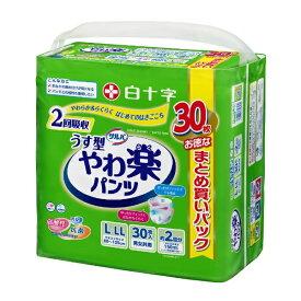 白十字 Hakujuji サルバ やわ楽パンツL-LLサイズ 30枚入