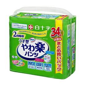 白十字 Hakujuji サルバ やわ楽パンツM-Lサイズ 34枚入