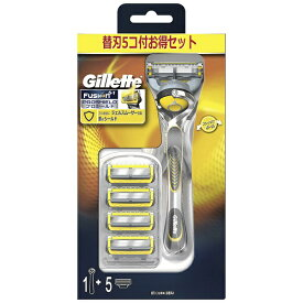 ジレット Gillette Gillette(ジレット) フュージョン 5+1 プロシールド4B ホルダー付 替刃5個付 〔ひげそり〕