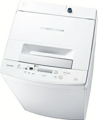 【標準設置費込み】 東芝 全自動洗濯機 (洗濯4.5kg) AW-45M5-W ピュアホワイト[AW45M5_W] [一人暮らし 単身 単身赴任 新生活 家電]