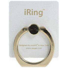 UNIQ ユニーク 〔スマホリング〕 iRing Limited Edition ゴールドシャフト/パールホワイト UMS-IRLEG01PW