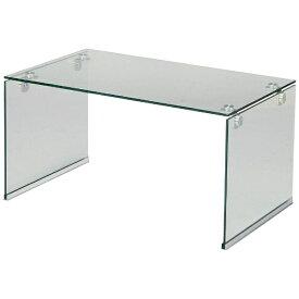 東谷 AZUMAYA ガラステーブルS PT-28CL(W76×D45×H39cm)