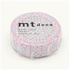 カモ井加工紙 KAMOI mt マスキングテープ mt 1P チェックコラージュ・ピンク MT01D347
