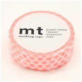 カモ井加工紙 KAMOI mt マスキングテープ mt 1P ドット・ショッキングレッド MT01D358