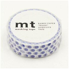 カモ井加工紙 KAMOI mt マスキングテープ mt 1P ドット・ナイトブルー MT01D361