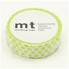 カモ井加工紙 KAMOI mt マスキングテープ mt 1P ドット・ライム MT01D362