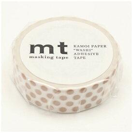 カモ井加工紙 KAMOI mt マスキングテープ mt 1P ドット・ミルクティー MT01D364